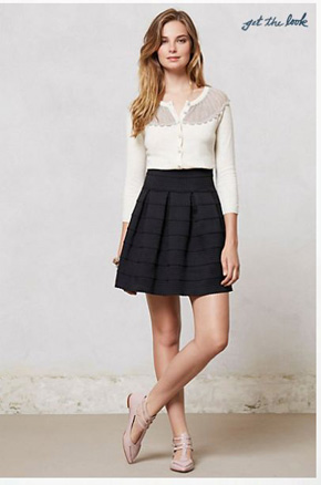 Anthropologie-Ponte-Bell-Skirt-Black
