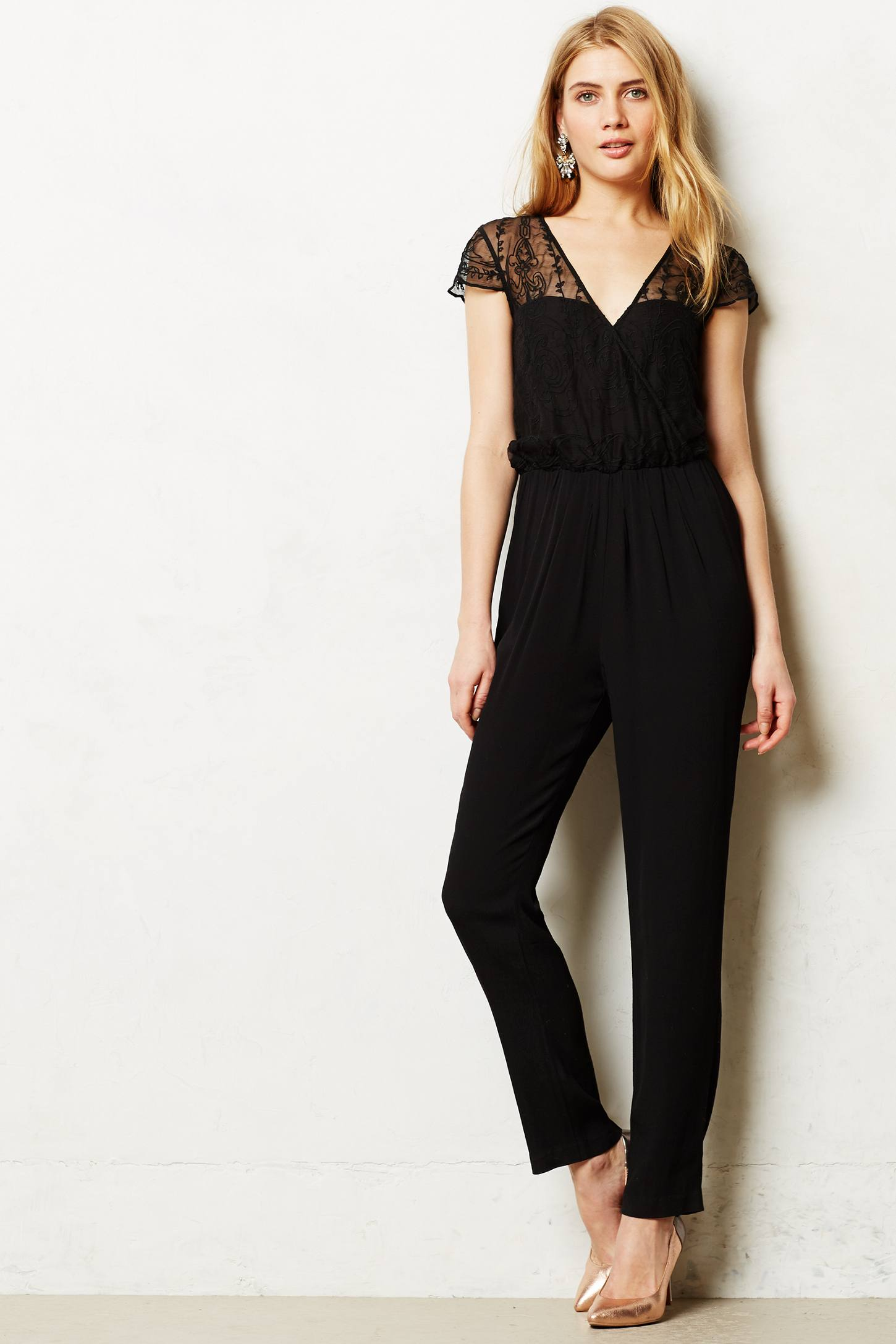 Georgette Embroidered Jumpsuit