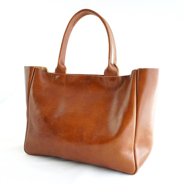 Cognac / Caramel Leather Totes | Crewlade
