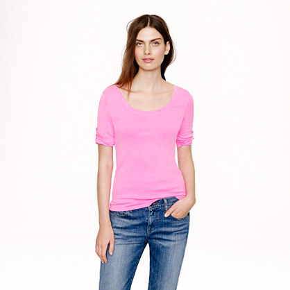 J.Crew Perfect Fit Ballet Button Tee