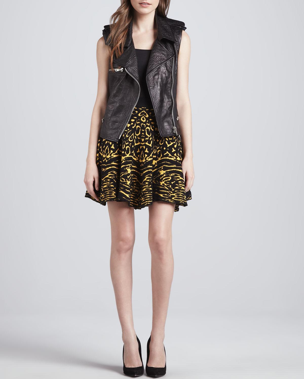 Torn by Ronny Kobo Anabella Animal-Print Skirt