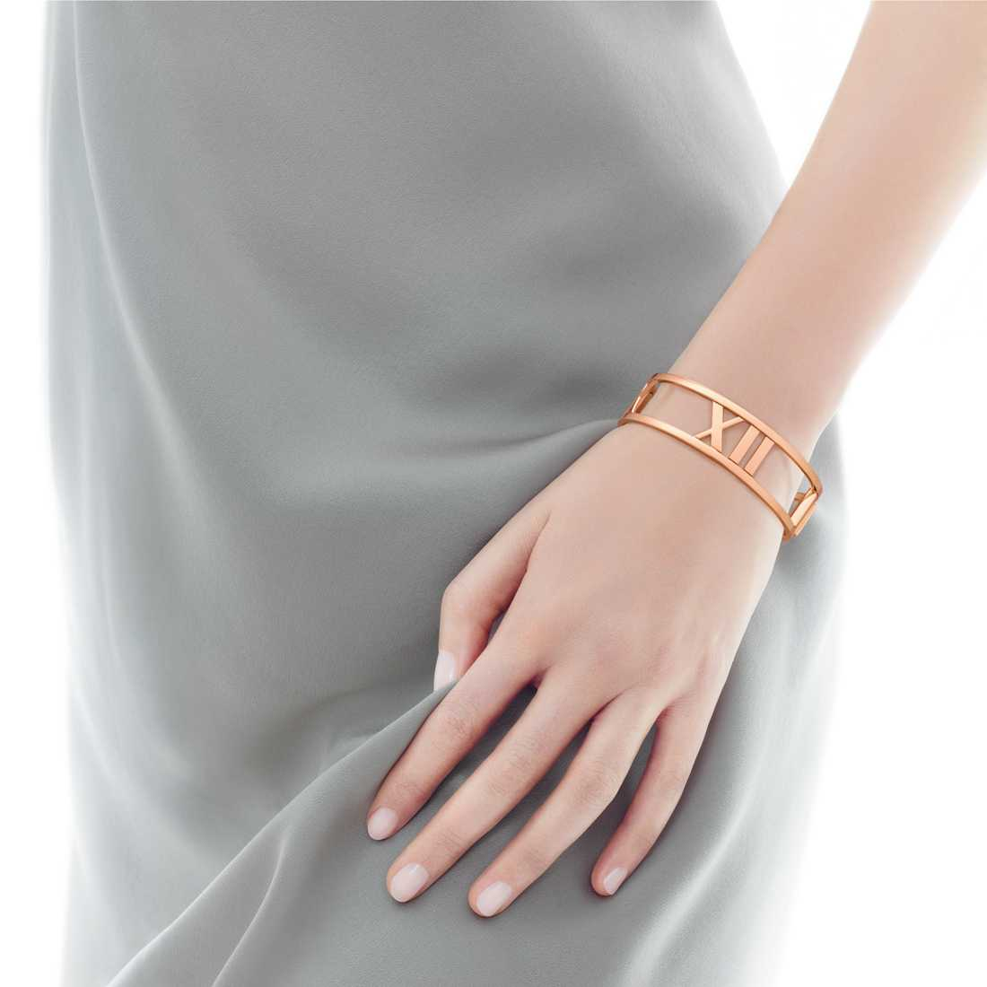 Tiffany's Atlas Medium Bangle Rose Gold