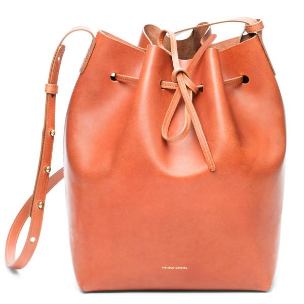 Mansur Gavriel Bucket Bag in Brandy