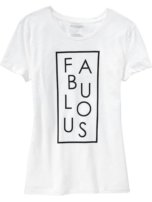 Old Navy Fabulous Graphic Slub-Knit Tee