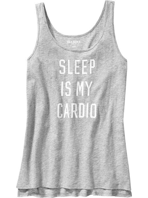Old Navy Sleep is My Cardio Graphic Slub-Knit Tank