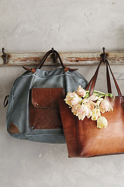 Anthropologie Alchimia Burnished Leather Tote