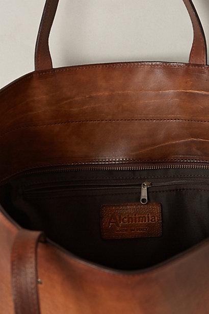 Anthropologie Alchimia Burnished Leather Tote