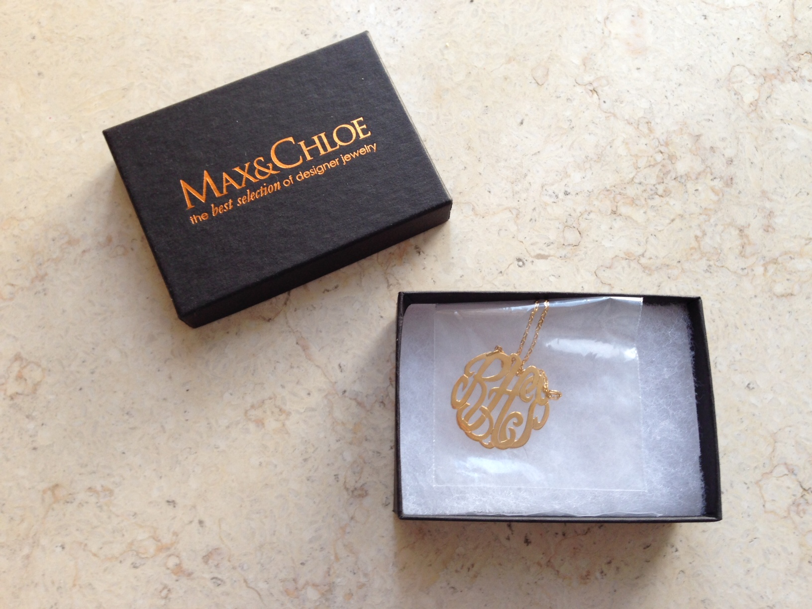 Max & Chloe Monogram Necklace