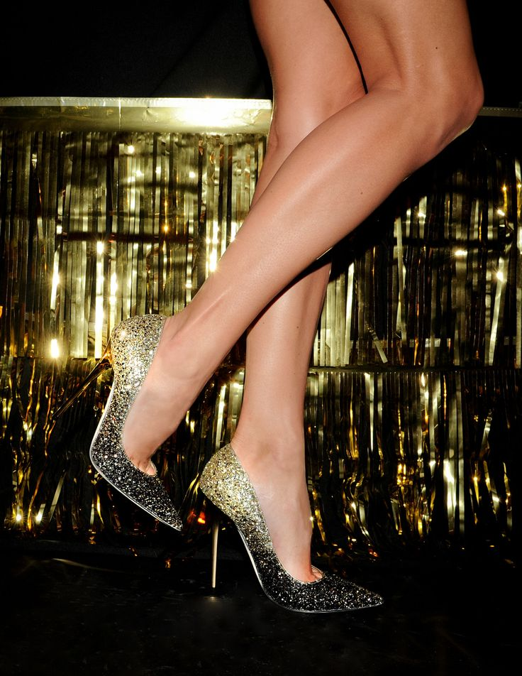 Jimmy Choo Anouk Glitter Degrade Pumps