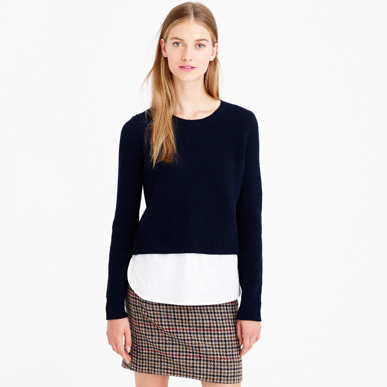 J.Crew Lambswool Shirttail Sweater