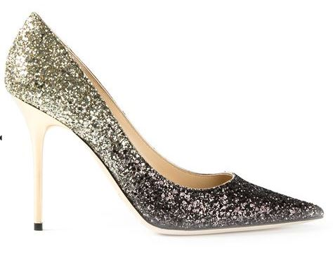 Jimmy Choo Abel Glitter Degrade Pumps