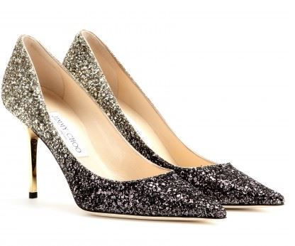 Jimmy Choo Agnes Glitter Degrade Pumps