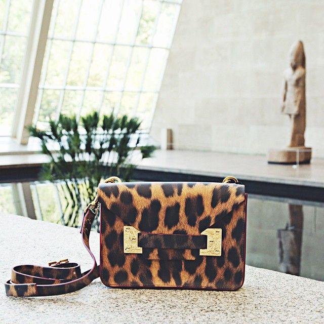 Sophie Hulme Leopard-Print Flap Bag
