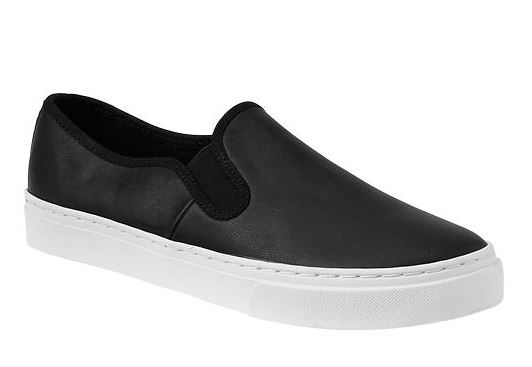 Gap Leather Slip On Sneakers
