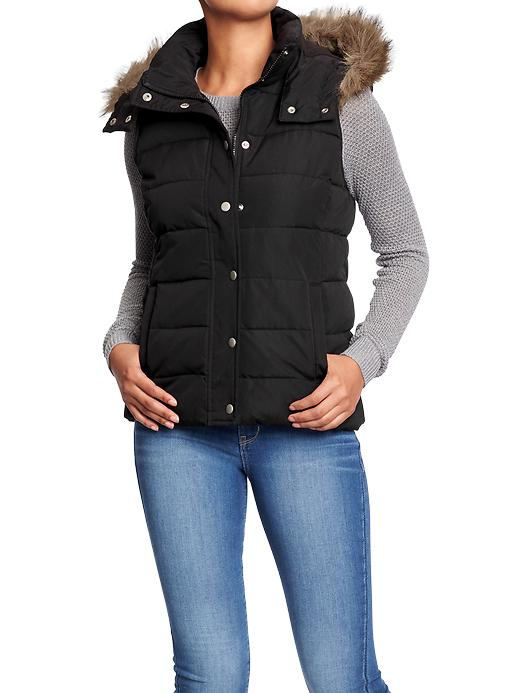 Old Navy Hooded Quilted Vest