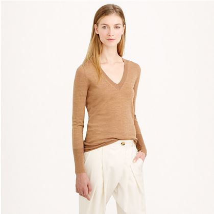Jcrew merino wool vneck sweater