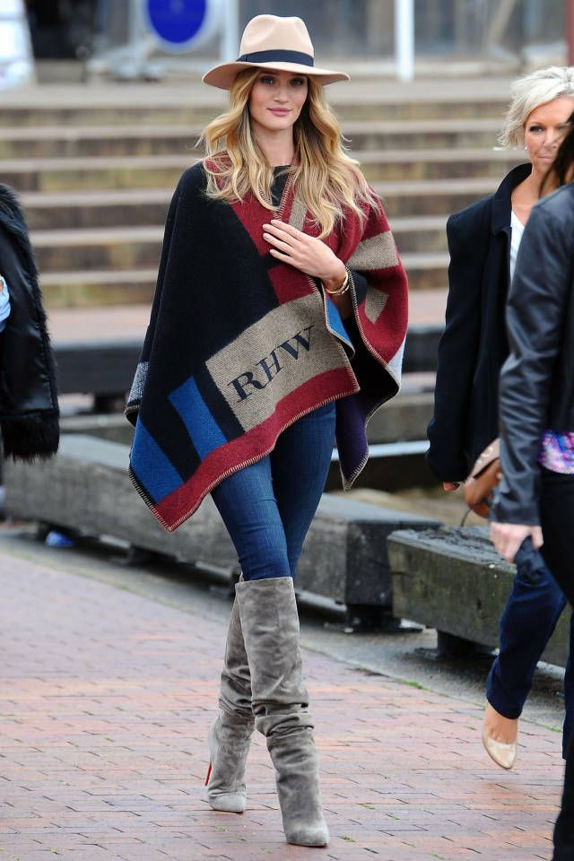 Burberry Colorblock Check Blanket Poncho