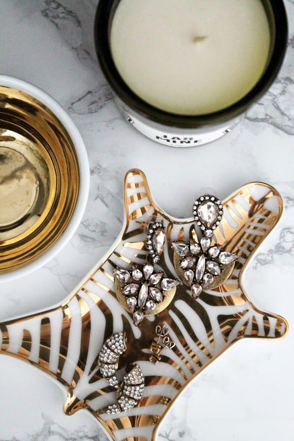 Jonathan Adler Zebra Jewelry Dish