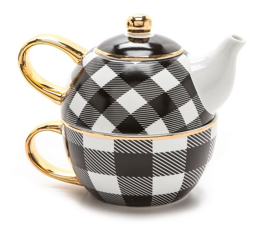 C. Wonder Buffalo Check Tea for One